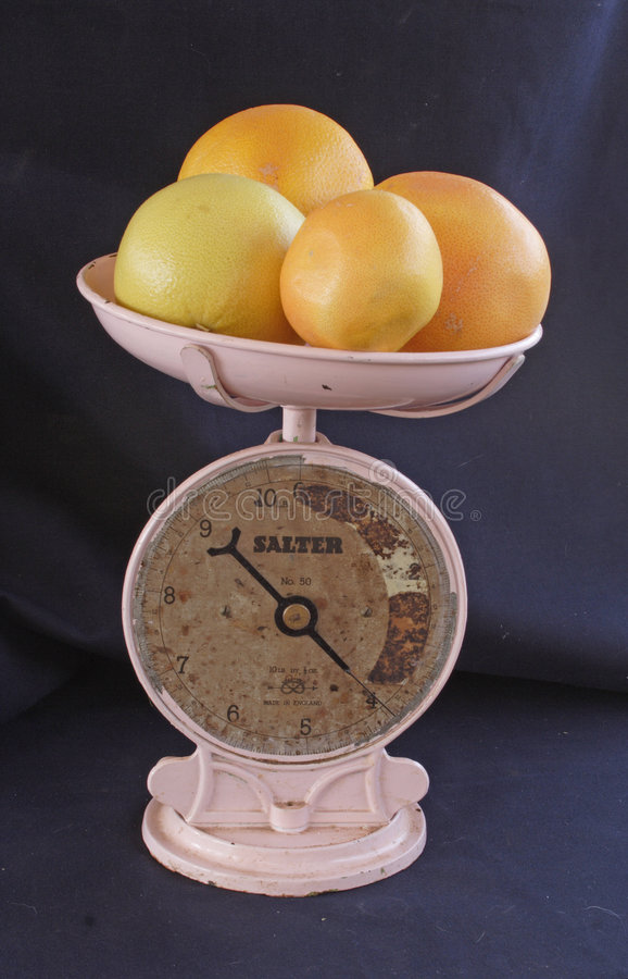 Old kitchen scale stock photos