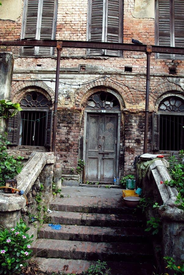 Old Kolkata. January 08.2011 Kolkata,West Bengal,India,Asia-A ruin palace of the old Kolkata royalty free stock photography