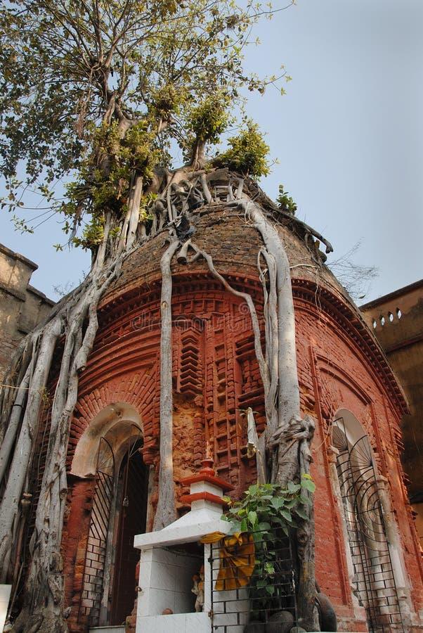 Old Kolkata. January 08.2011 Kolkata,West Bengal,India,Asia-A 300 years old temple of god Shiva at the residential area of old Kolkata royalty free stock photos