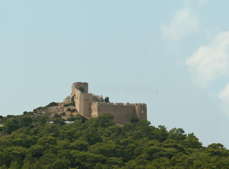 The Old Kritinia Castle Of Knights On The Rhodes Stock Photo