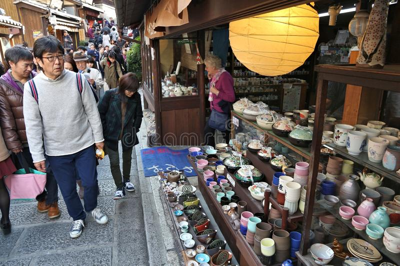 Old Kyoto shopping stock image
