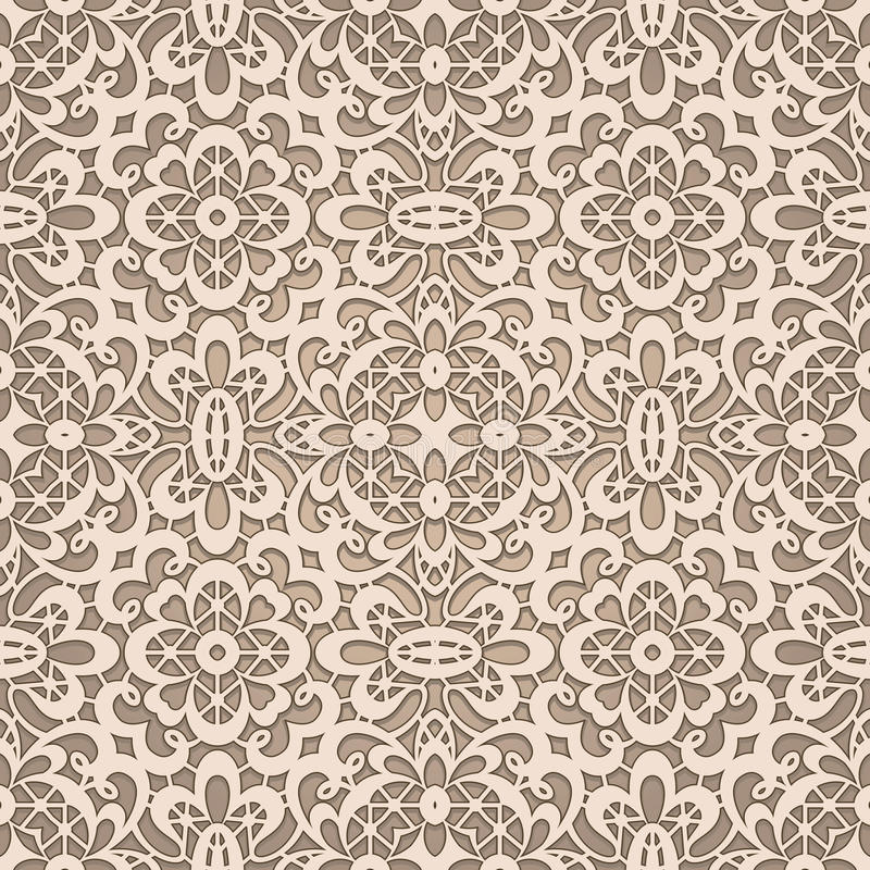 Old lace pattern vector illustration