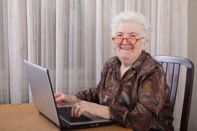 Old lady royalty free stock images
