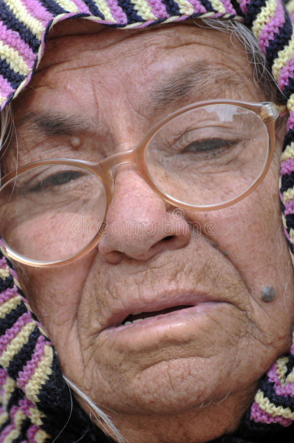 Old Lady Face Royalty Free Stock Photos