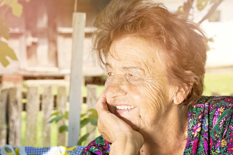 Old lady stock image