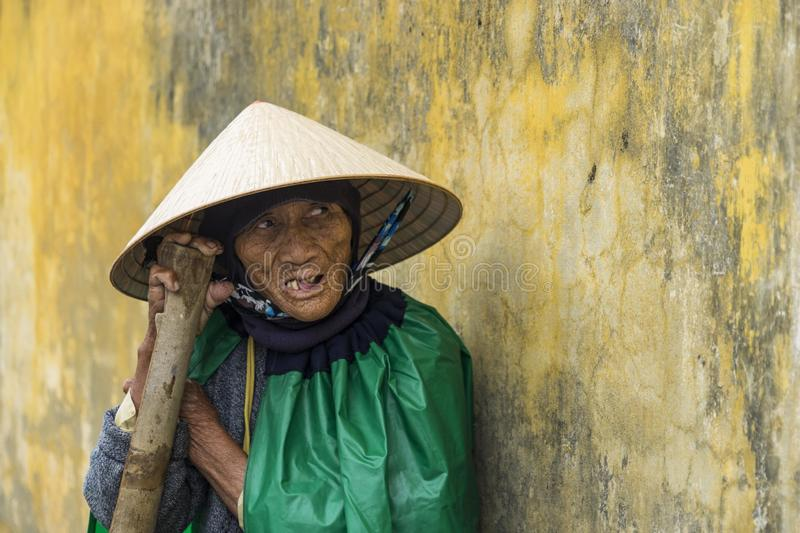 Old lady selling bananas royalty free stock images