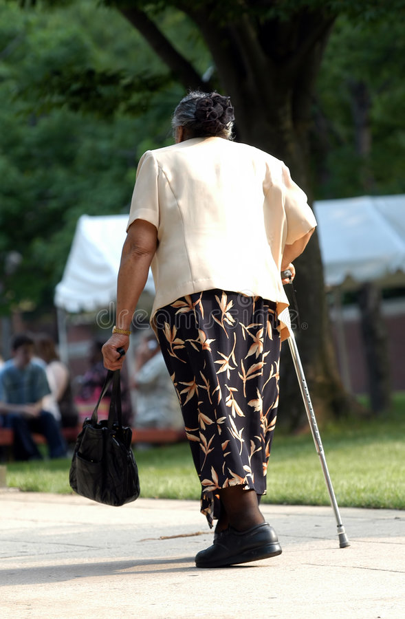 Download Old Lady Walking Stock Photos - Image: 195773