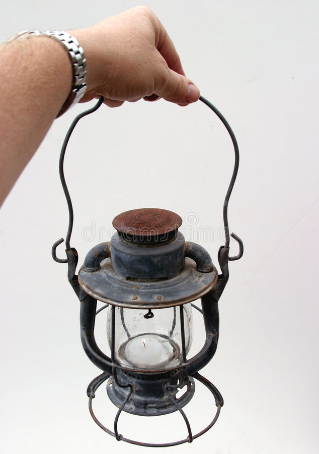 Download Old lamp 2 stock photo. Image of hand, hold, human, lantern - 49046