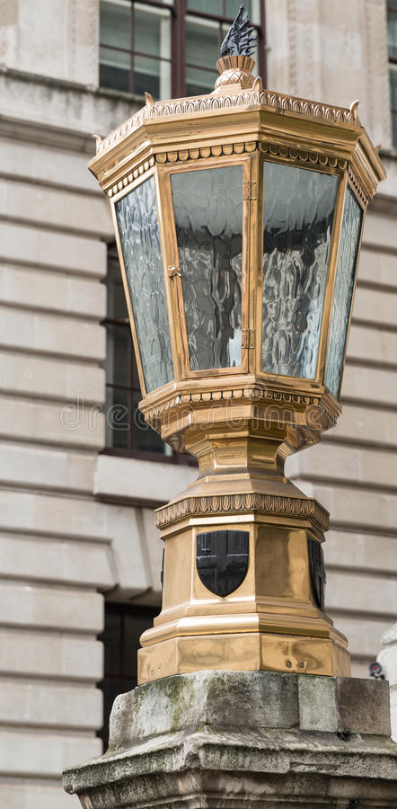 Old Lamp in the City of London stock image