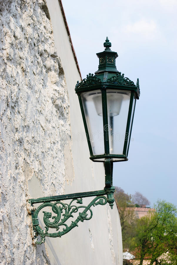 Old lamp in Prague royalty free stock photography