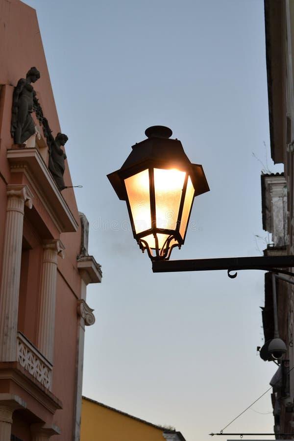 Old lamp. Is Salvador, Bahia, Brazil royalty free stock photos