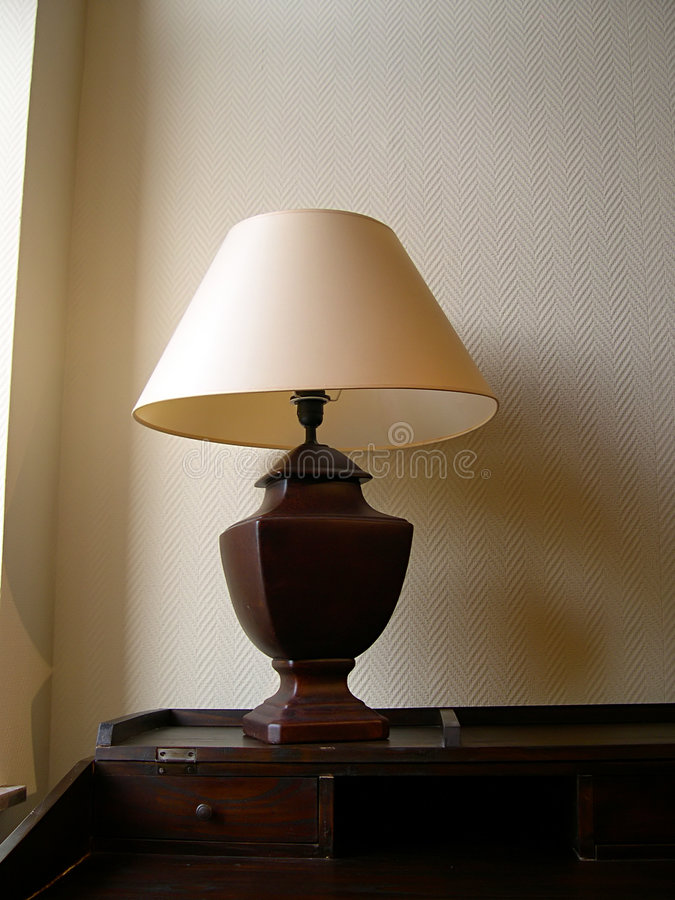Old Lamp On Table Stock Photography