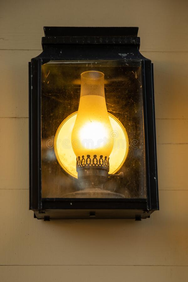 Old lamp on a wall royalty free stock images