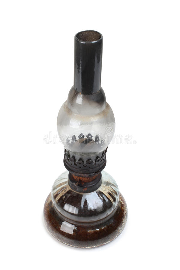 Download Old lamp on white stock image. Image of equipment, bulb - 83706755
