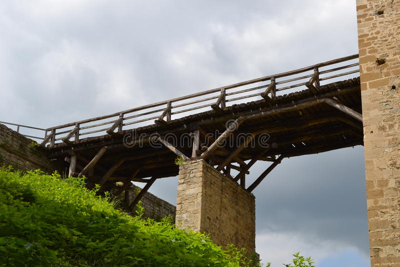 Old land bridge royalty free stock photo