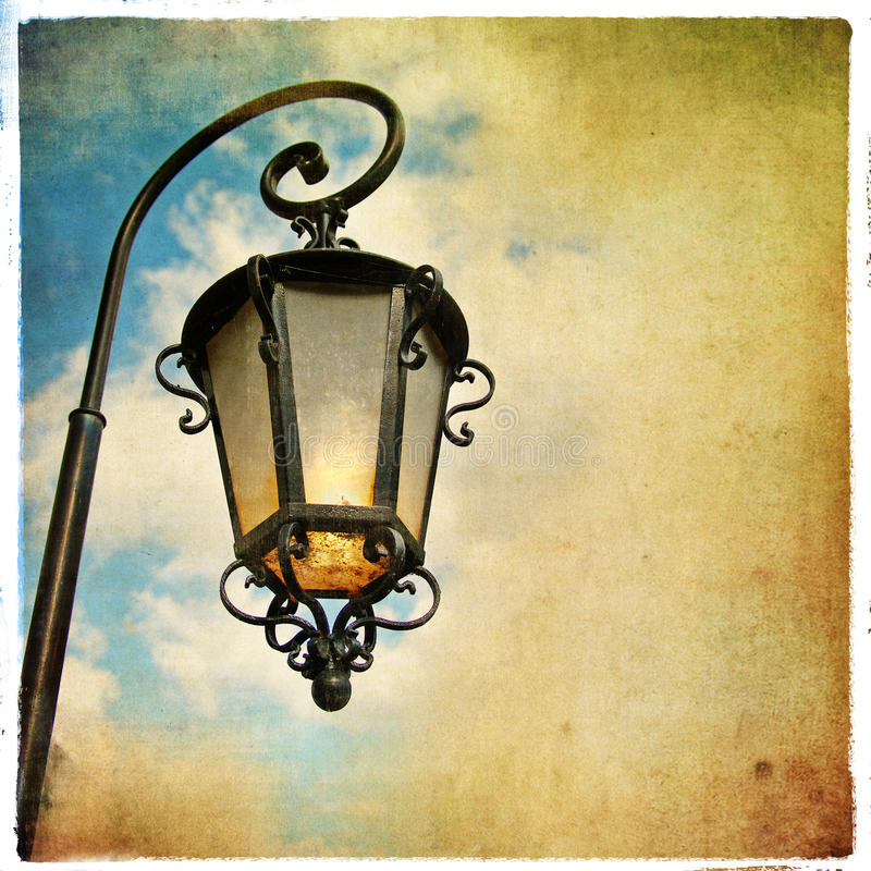 Download Old lantern stock photo. Image of aged, alley, europe - 12447668