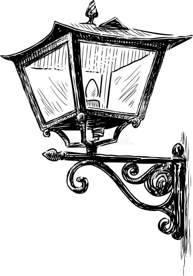 Old Fashioned Lantern Drawing Stock Illustrations 164