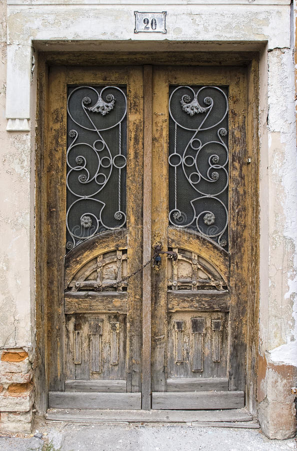 Old Large Wooden Doors Stock Photo - Image: 66897772