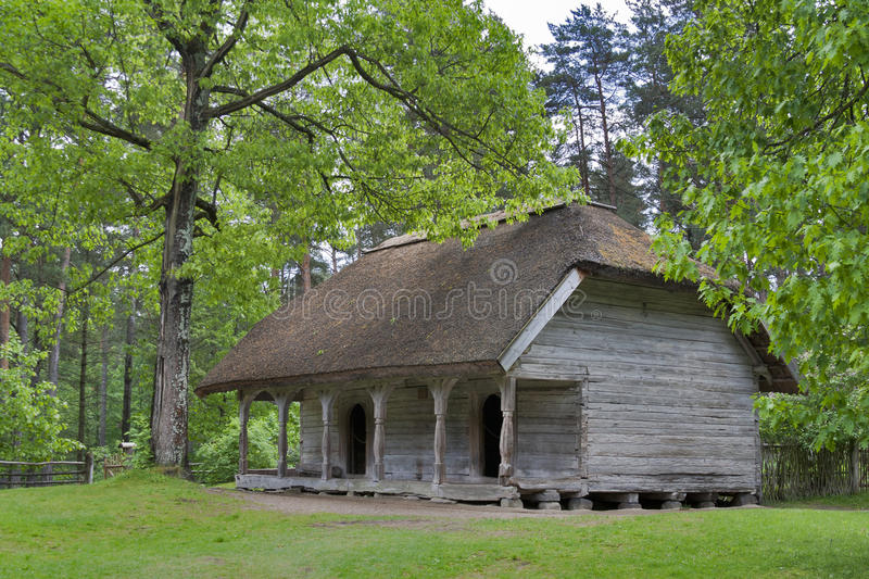 Old Latvian traditional storehouse stock image
