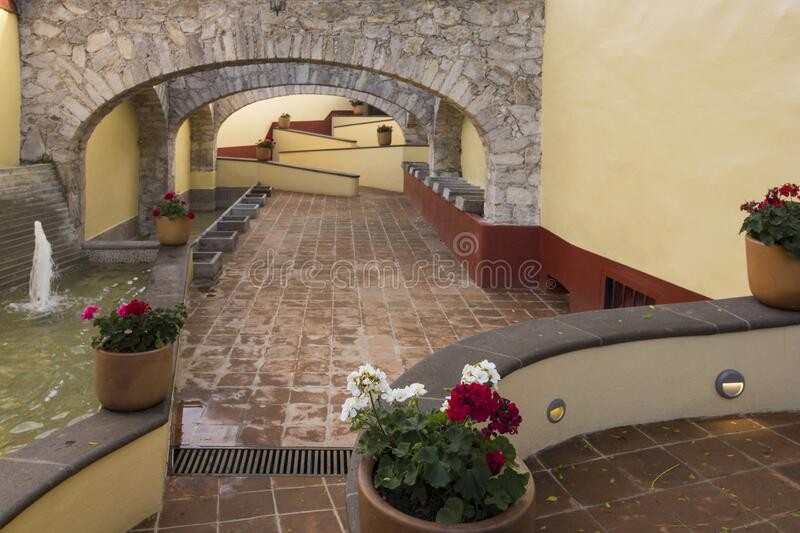Old laundry area in the town of Tequisquiapan royalty free stock image
