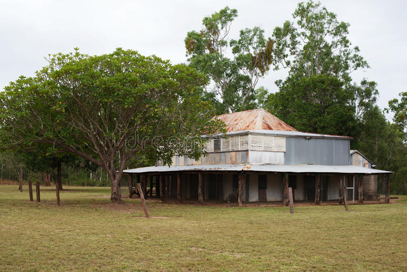 Old Laura Homestead. Is a heritage listed homestead in the Lakefield National Park, Cape York, North Queensland Australia. This abandoned cattle station was royalty free stock photography