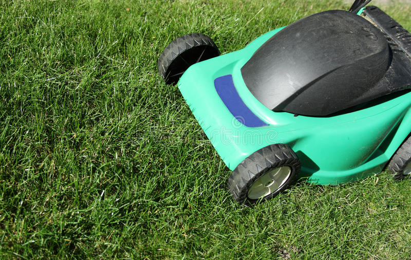 Download Old lawn mower stock photo. Image of yard, engine, garden - 19082298