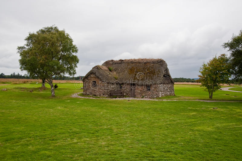 Old Leanach Cottage royalty free stock photo