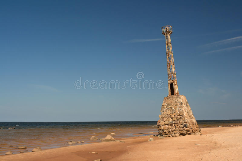 Old Leaning lighthouse royalty free stock photography