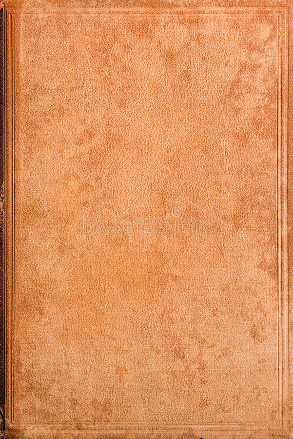 Old leather book cover stock photo
