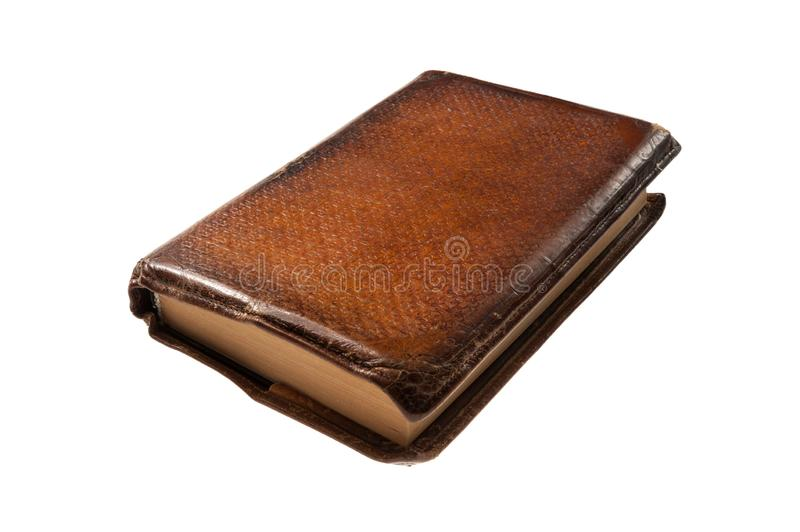 Old leather bound book stock photos