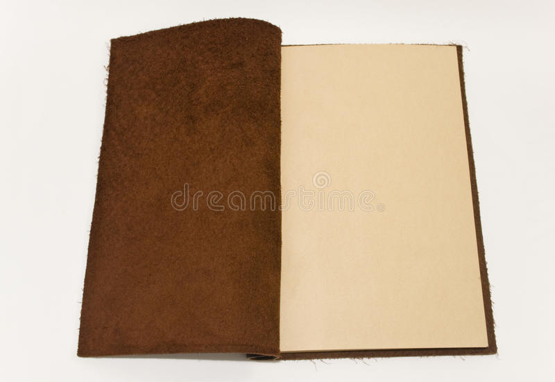 Download Old leather brown notebook stock photo. Image of brown - 13504394