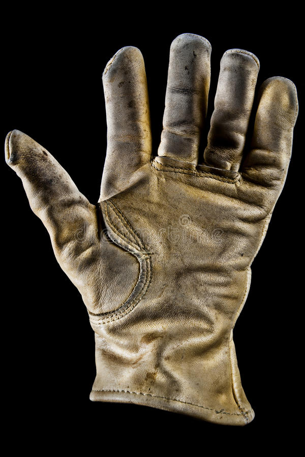 Download Old leather glove stock image. Image of work, protective - 21877007