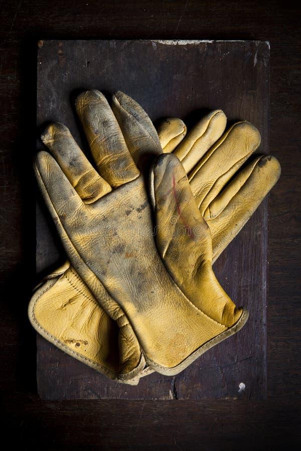 Download Old leather gloves stock image. Image of still, finger - 21877033