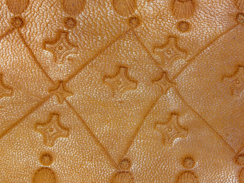 Old leather handmade stock image