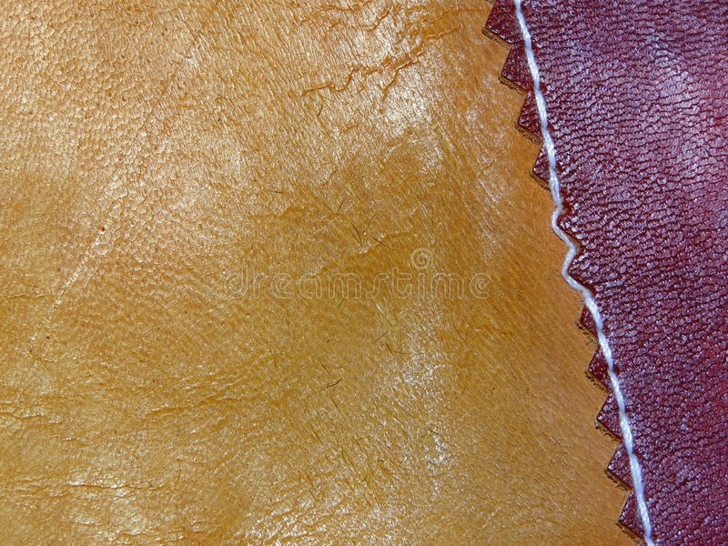 Old leather handmade stock photos