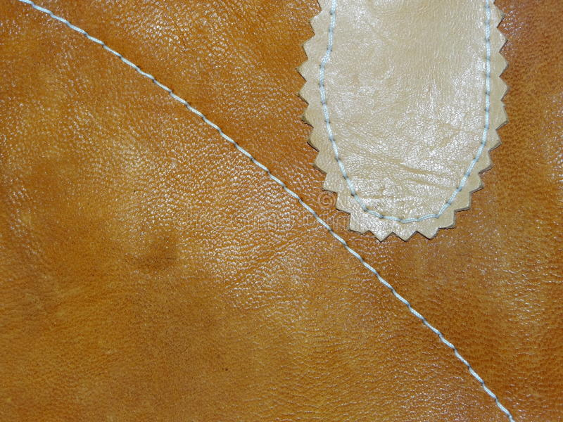 Old leather handmade royalty free stock photo