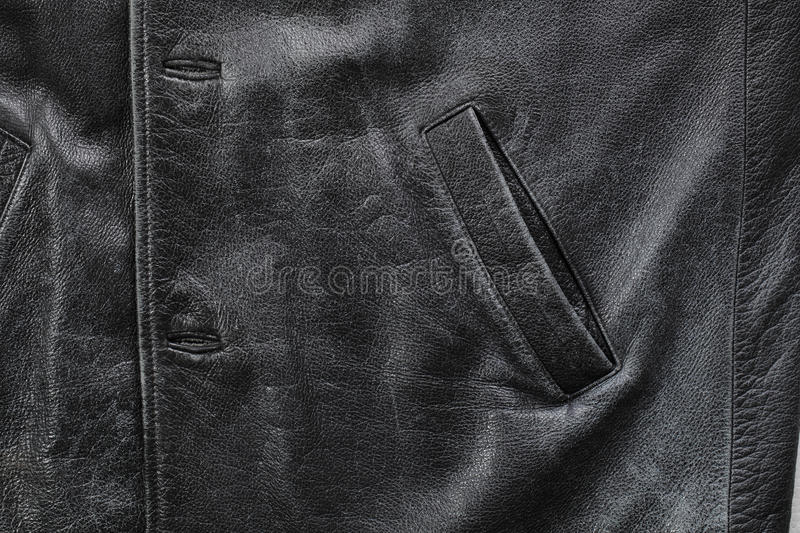 Download Old leather jacket stock photo. Image of bumpy, object - 13581746