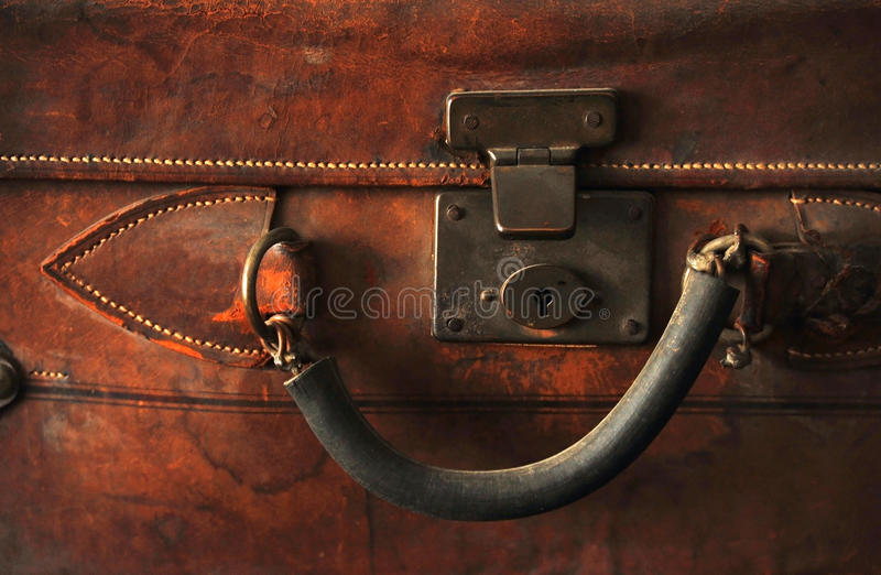 Download Old leather suitcase stock photo. Image of still, handling - 12677152