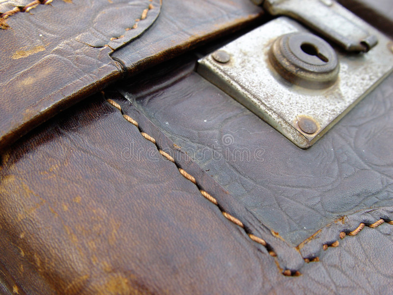 Download Old leather suitcase stock photo. Image of macro, accessory - 13640
