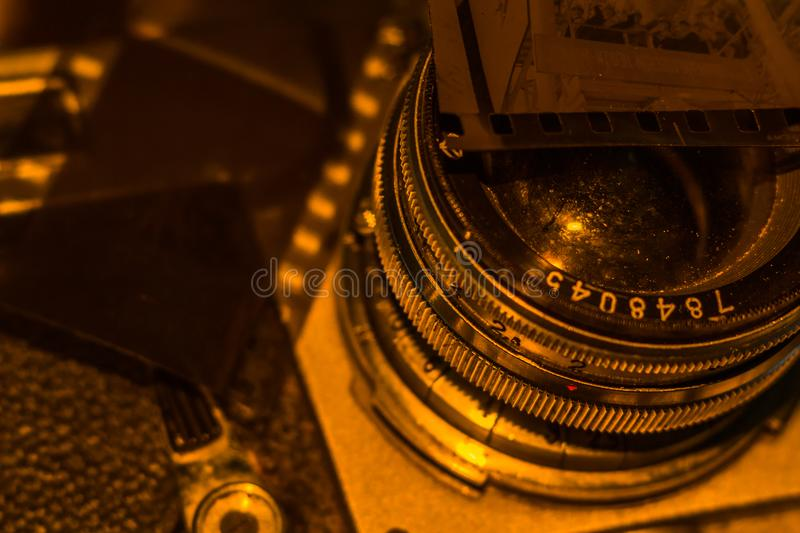 Old film negative royalty free stock images