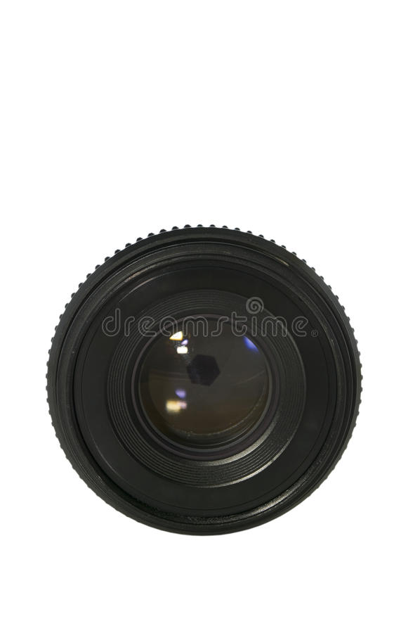 Old Lens On White With Clipping Path Stock Photography