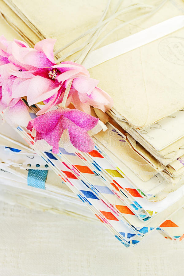 Old letters stock photography