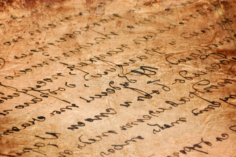 Download Old Letters As A Background Stock Photo - Image: 18543894