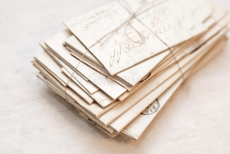 Old letters royalty free stock image