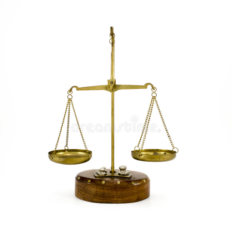 Old Libra isolated. royalty free stock photography