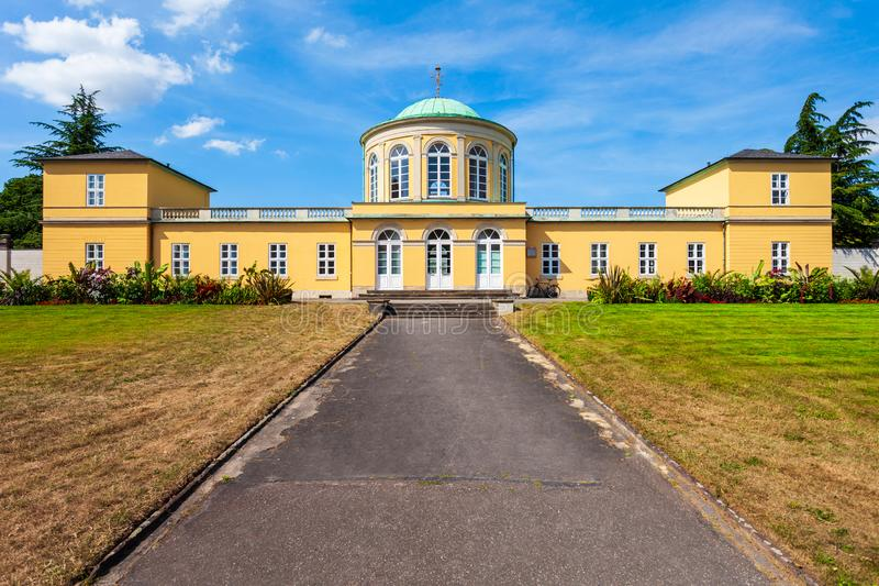 Old library building in Hanover. Old library building in the herrenhausen district of Hanover city in Germany royalty free stock images