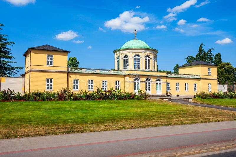 Old library building in Hanover. Old library building in the herrenhausen district of Hanover city in Germany stock image