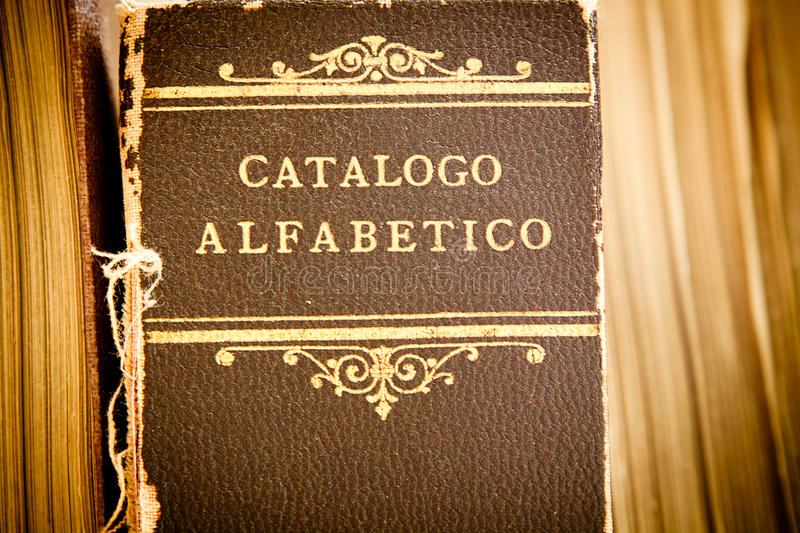 Old library catalogue