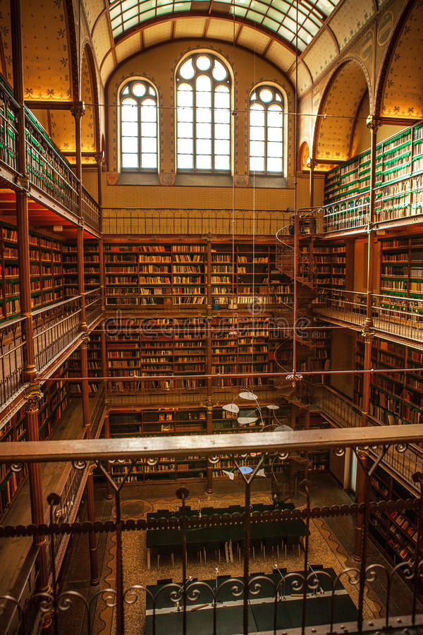 Old Library Of Rijksmuseum, Amsterdam. Editorial Photo - Image of ...