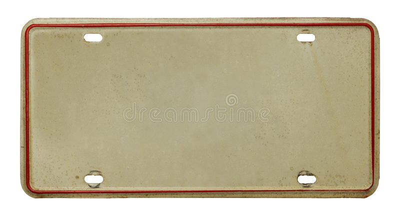 Old License Plate stock image